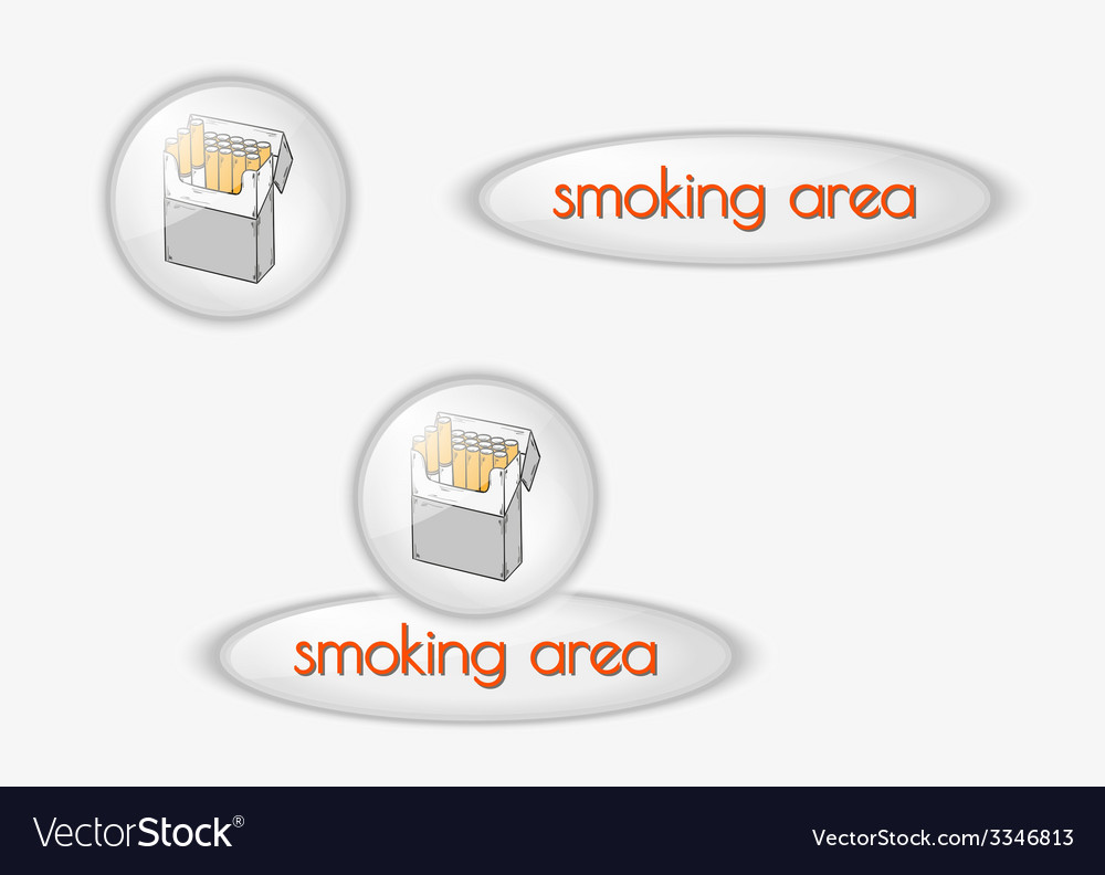 Smoking area buttons vector | Price: 1 Credit (USD $1)