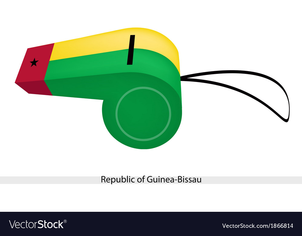 A whistle of the republic of guinea bissau vector | Price: 1 Credit (USD $1)