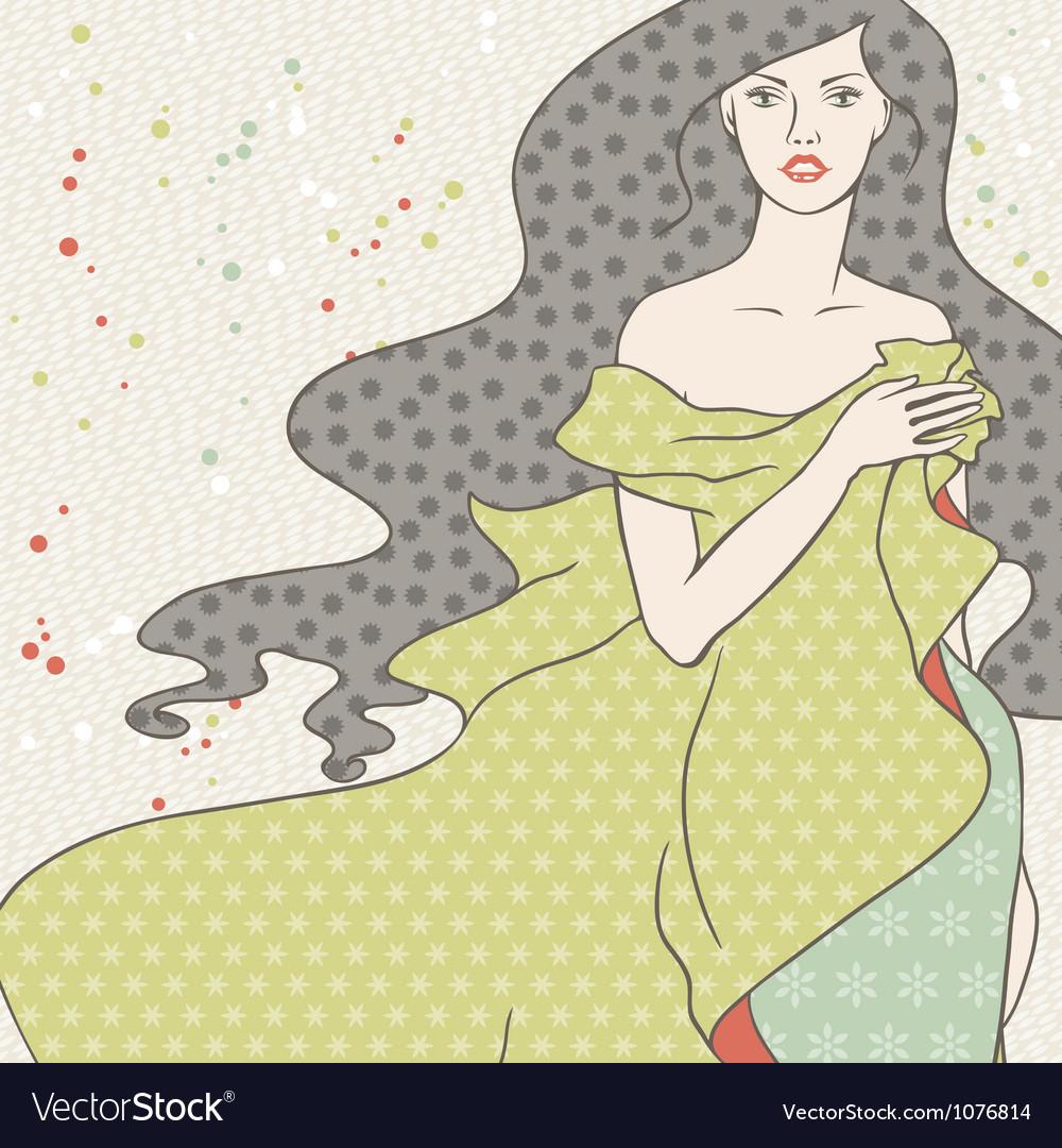 Beautiful fashion girl vector   Price: 1 Credit (USD $1)