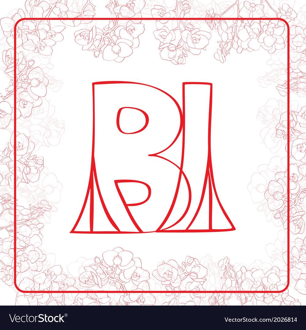 Bi monogram vector | Price: 1 Credit (USD $1)