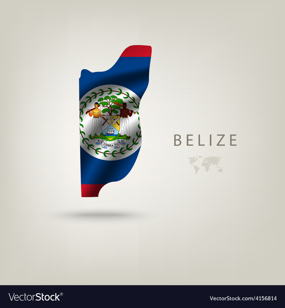 Flag of belize as a country with a shadow vector | Price: 3 Credit (USD $3)
