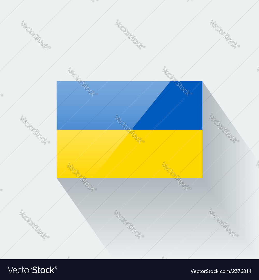 Flag of ukraine vector | Price: 1 Credit (USD $1)