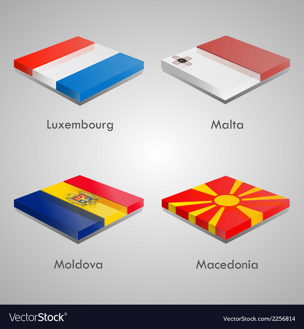 Glossy bricks buttons with european country flags vector   Price: 1 Credit (USD $1)