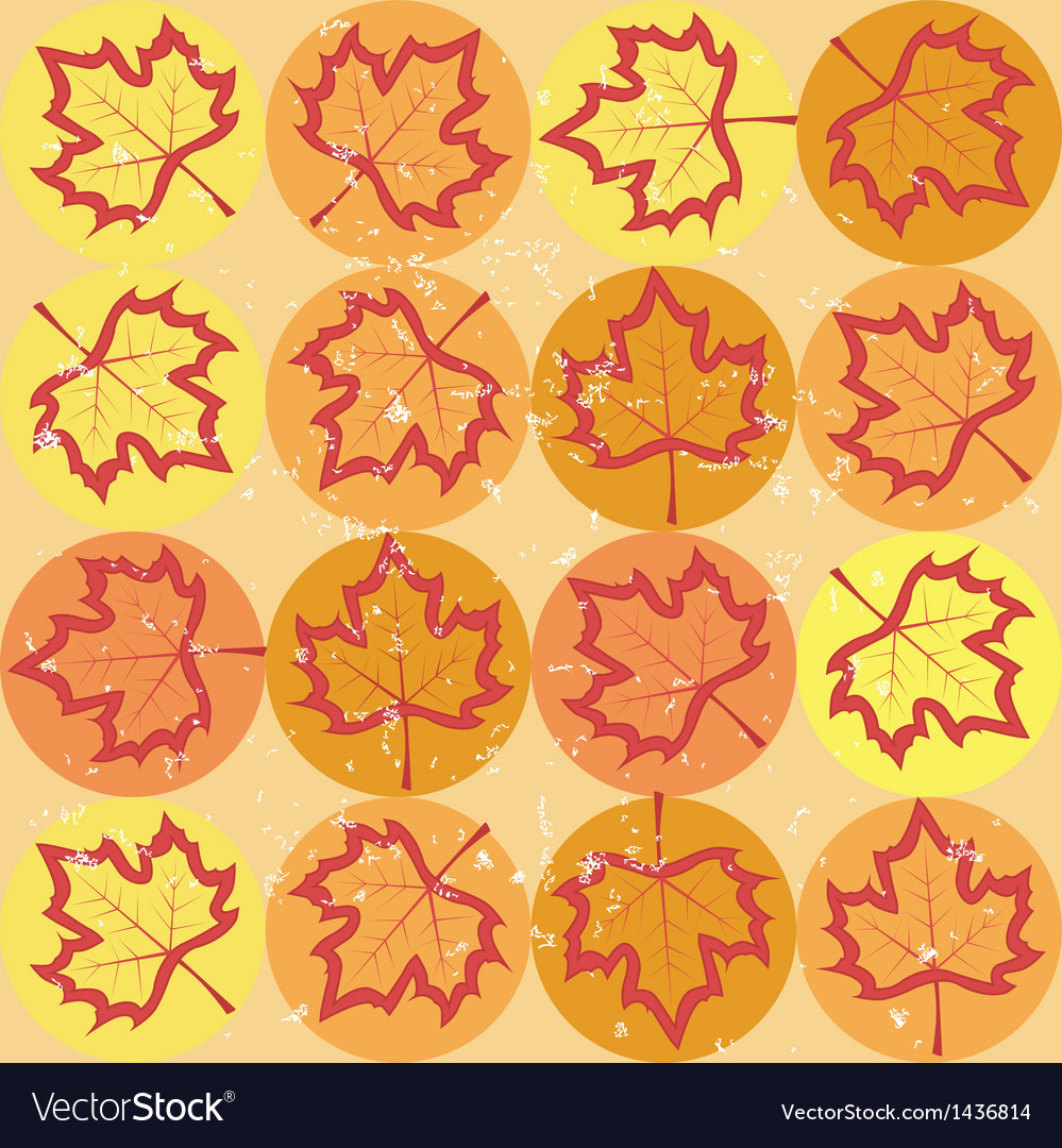 Grunge pattern with maple leaves vector | Price: 1 Credit (USD $1)