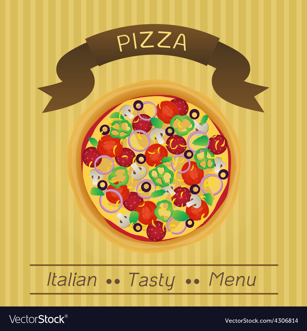 Italian tasty pizza menu vector | Price: 1 Credit (USD $1)