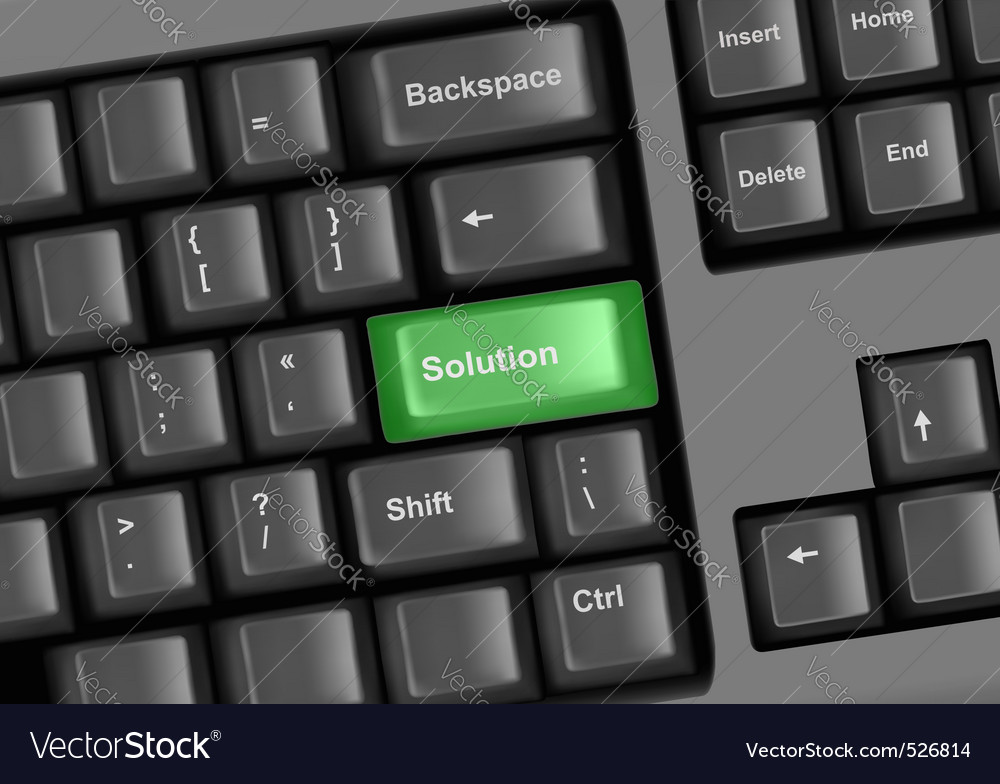 Keyboard with solution vector | Price: 1 Credit (USD $1)