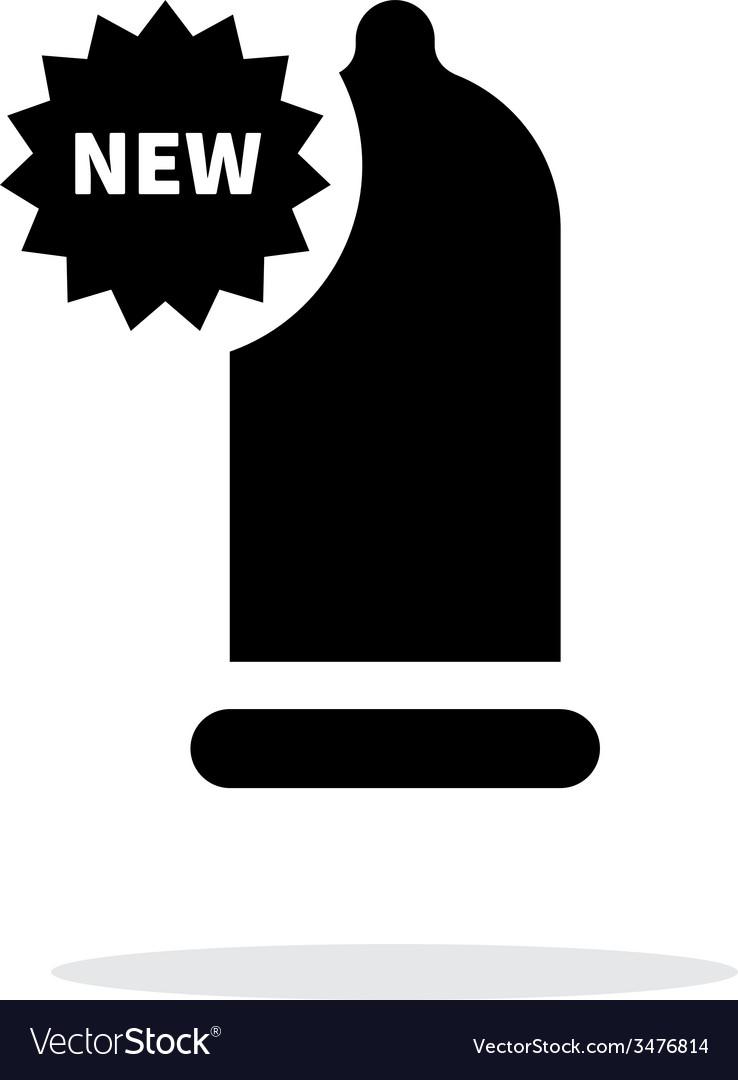 New condom icon on white background vector   Price: 1 Credit (USD $1)