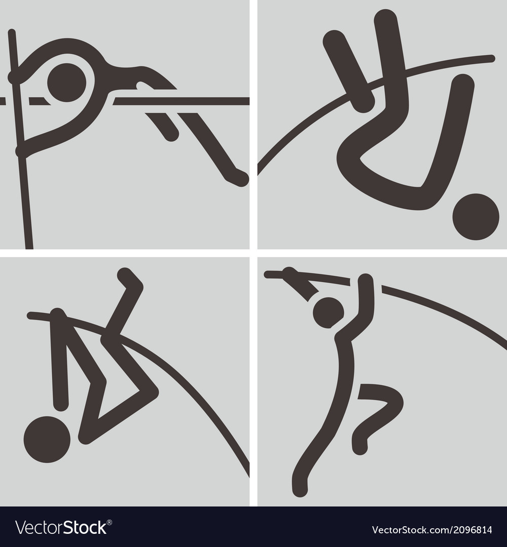 Pole vault icons vector | Price: 1 Credit (USD $1)
