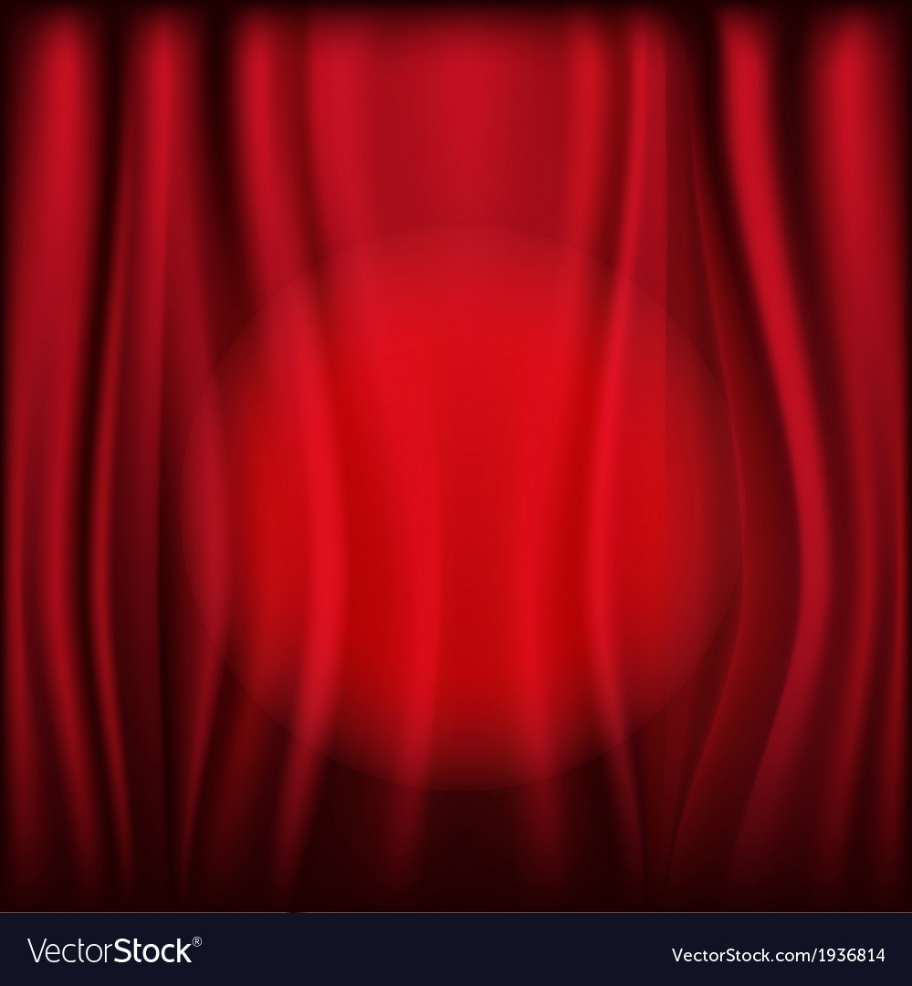 Red curtains with light circle vector | Price: 1 Credit (USD $1)