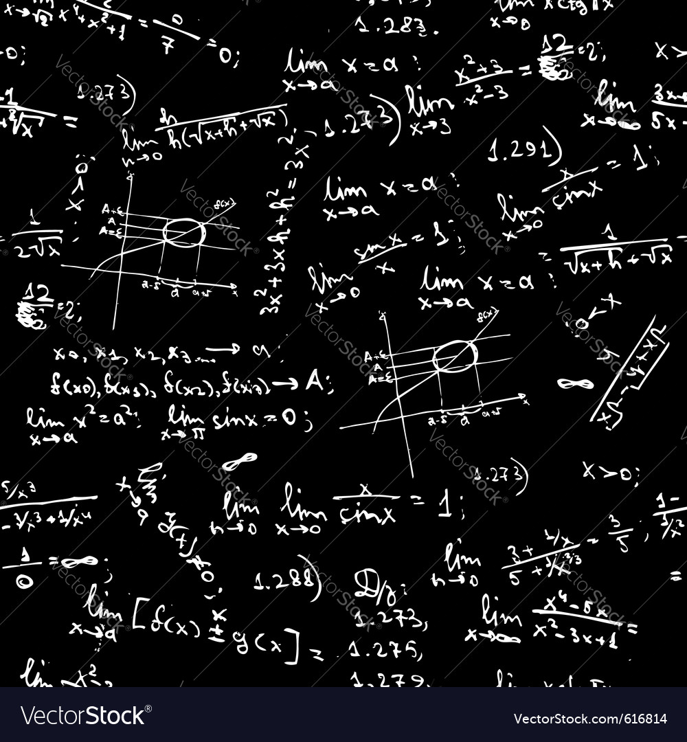 Seamless background math formulas vector | Price: 1 Credit (USD $1)
