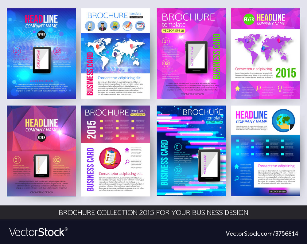 Set of corporate business stationery brochure vector | Price: 1 Credit (USD $1)