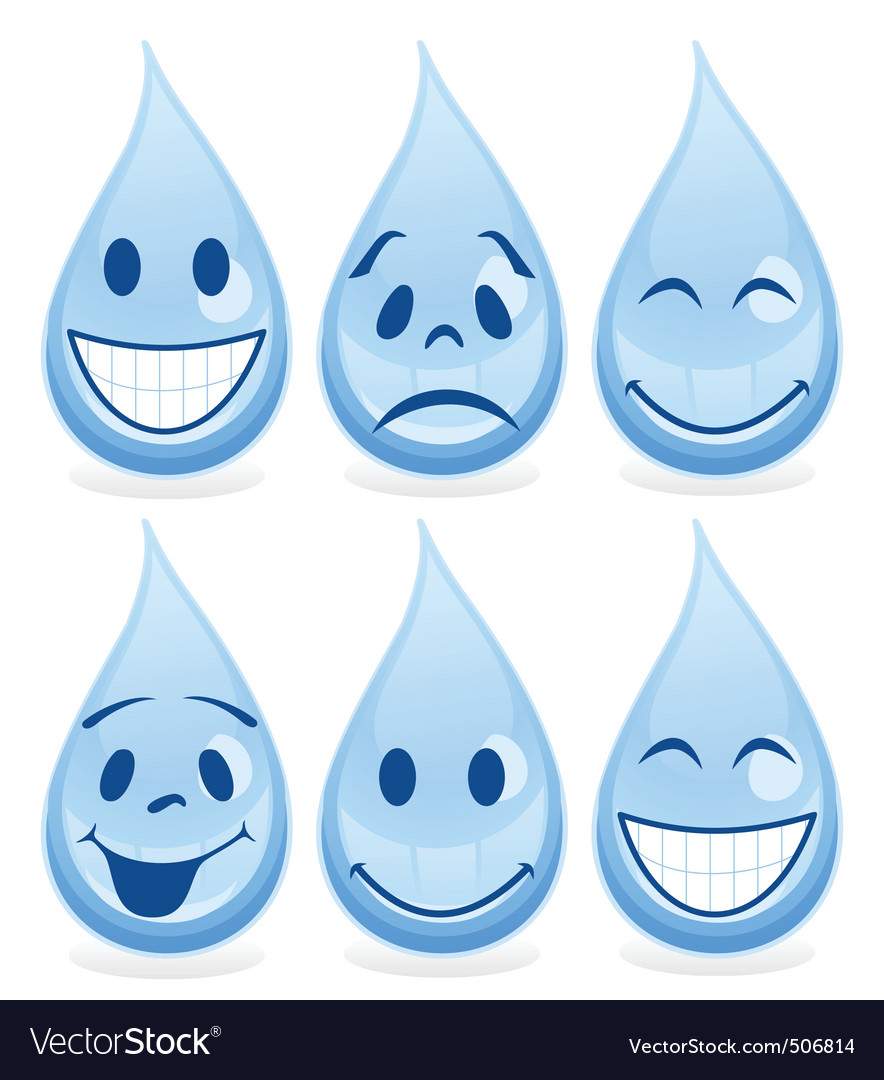 Smile a drop vector | Price: 1 Credit (USD $1)