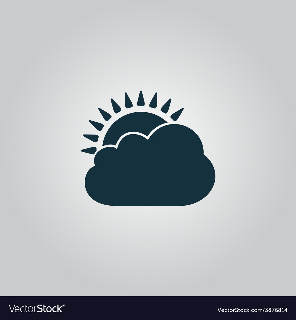 Sun cloud icon vector | Price: 1 Credit (USD $1)