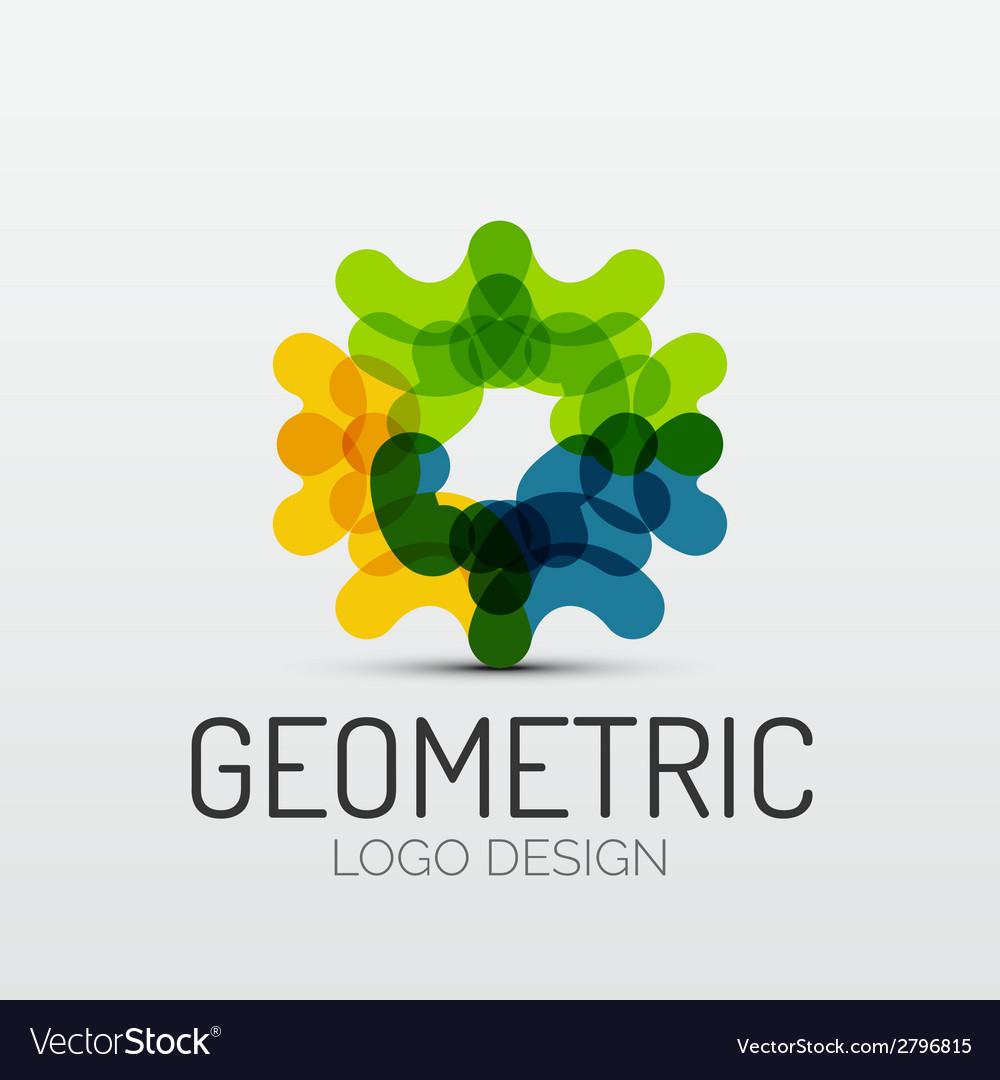 Abstract geometric shape company logo vector | Price: 1 Credit (USD $1)
