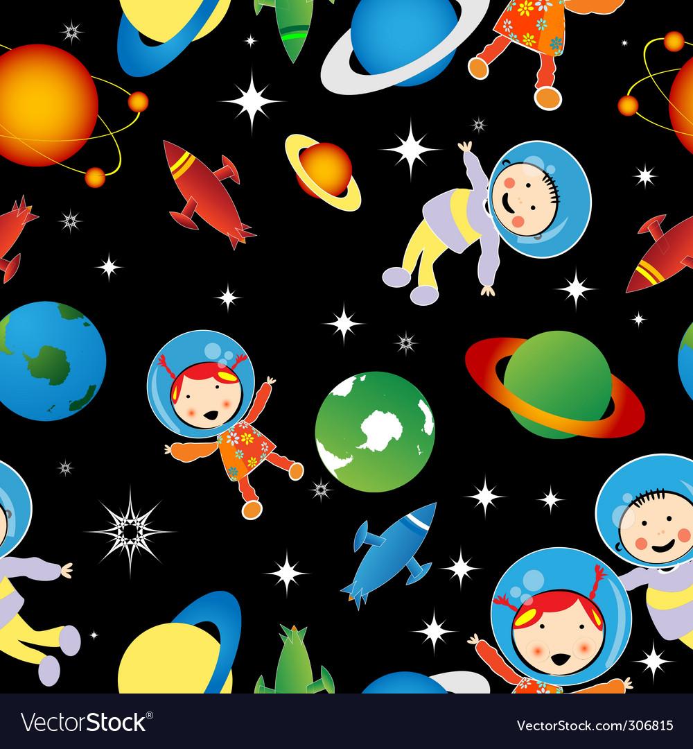 Astronaut pattern vector | Price: 1 Credit (USD $1)