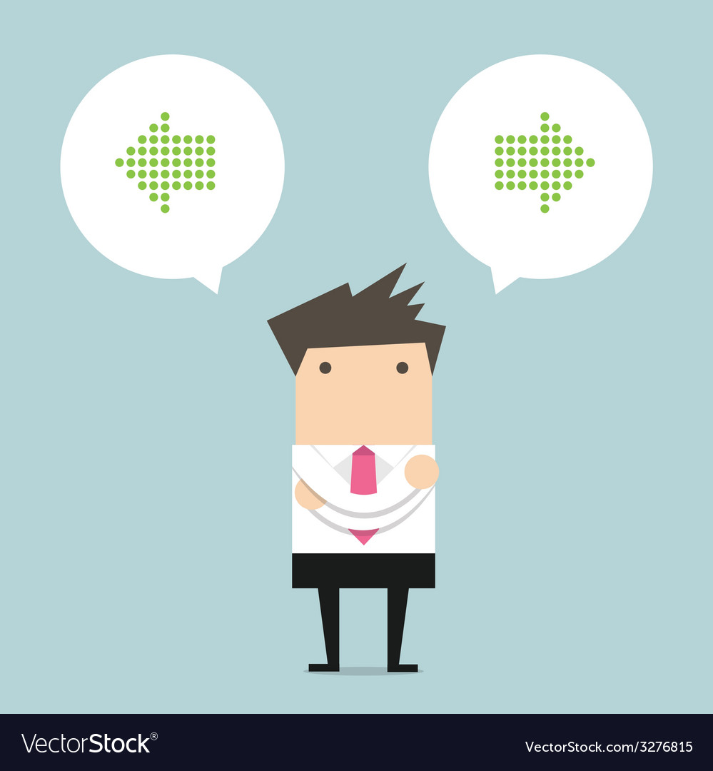 Business man thinking of choice vector | Price: 1 Credit (USD $1)
