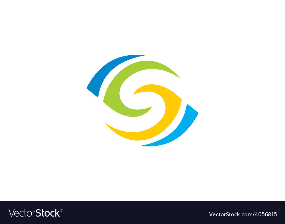 Circle vision abstract logo vector | Price: 1 Credit (USD $1)