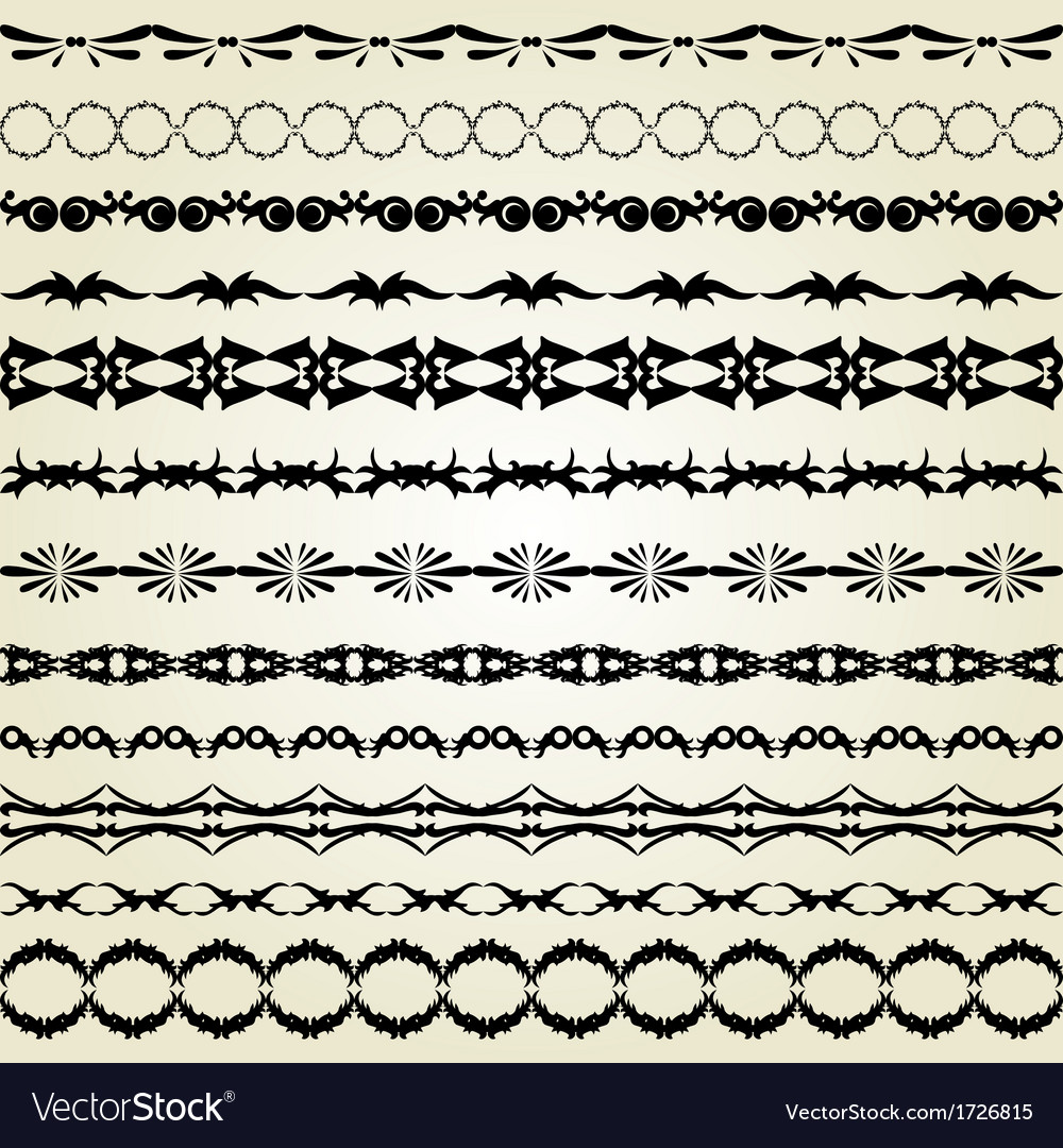 Decorative borders vector | Price: 1 Credit (USD $1)