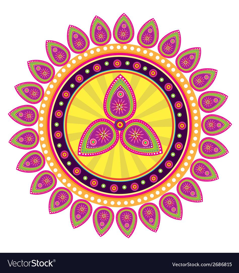Flower pattern mandala vector | Price: 1 Credit (USD $1)