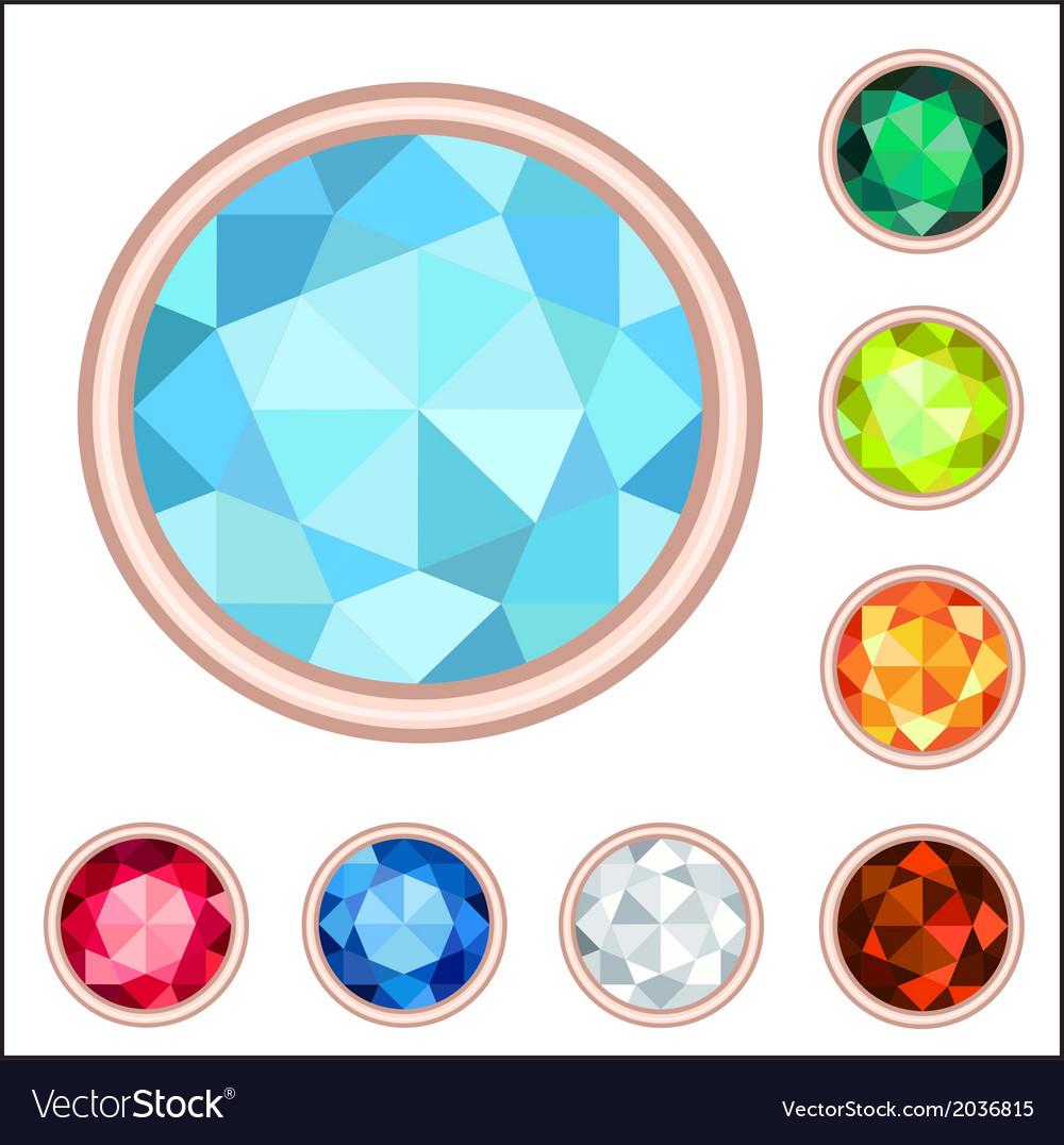 Gemstone set vector | Price: 1 Credit (USD $1)