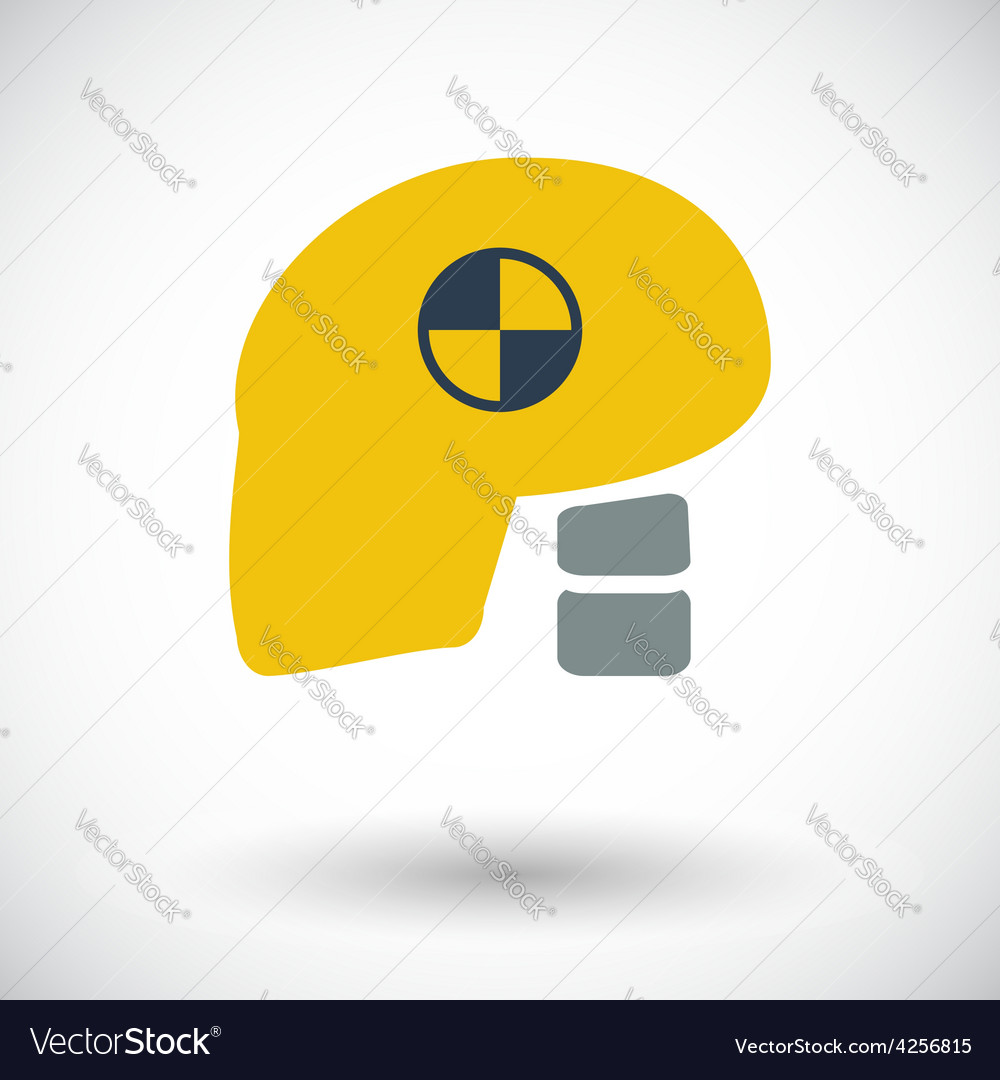 Icon dummy head for crash test vector | Price: 1 Credit (USD $1)