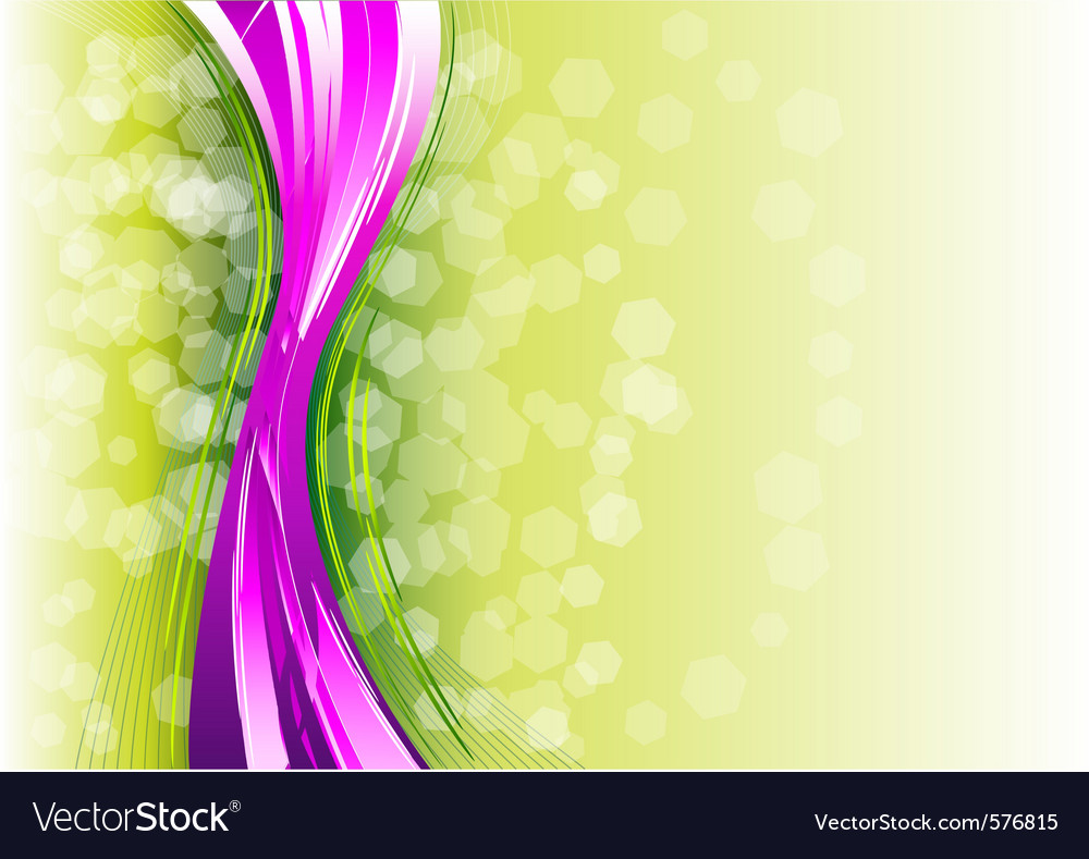 Purple vertical wave on the green vector | Price: 1 Credit (USD $1)