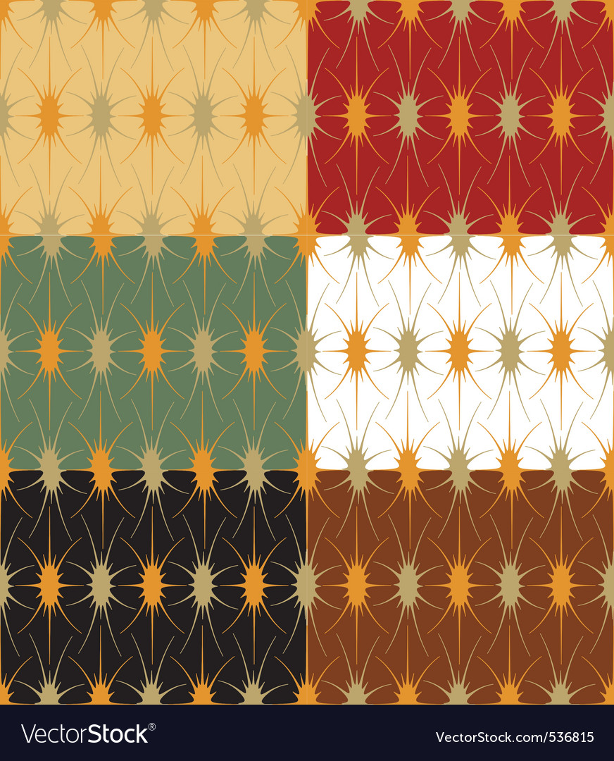 Seamless geometric background in 6 color options vector | Price: 1 Credit (USD $1)