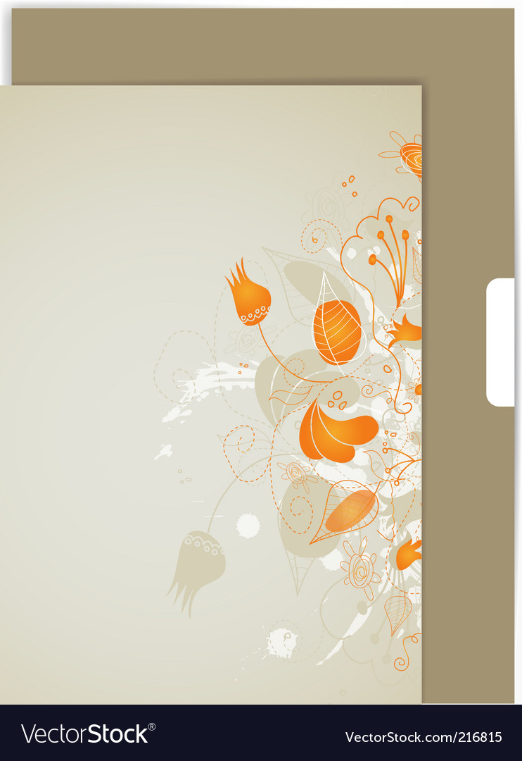 Sheet with flower ornament vector | Price: 1 Credit (USD $1)