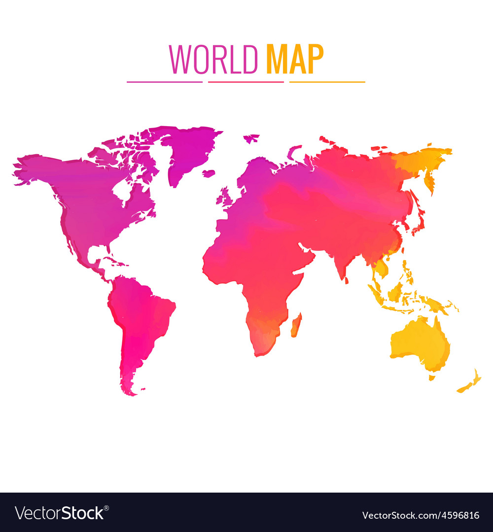 Colorful world map design vector | Price: 1 Credit (USD $1)