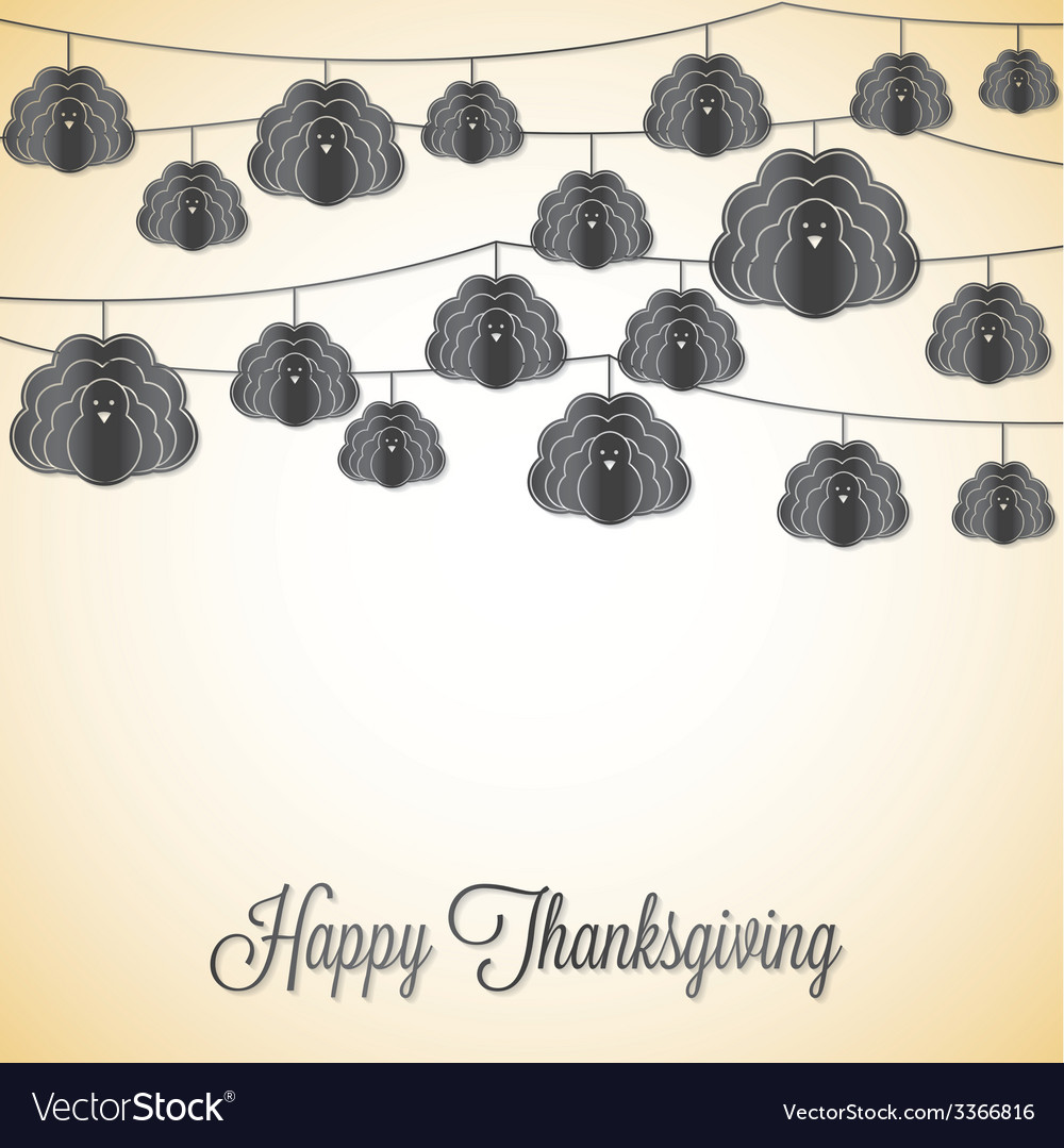 Elegant string thanksgiving card in format vector | Price: 1 Credit (USD $1)