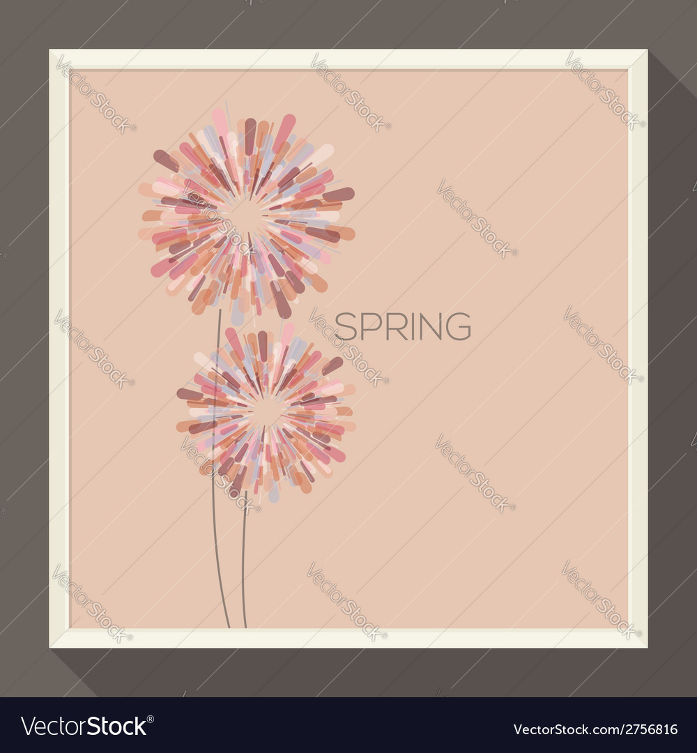 Poster with abstract pastel-colored flower vector | Price: 1 Credit (USD $1)