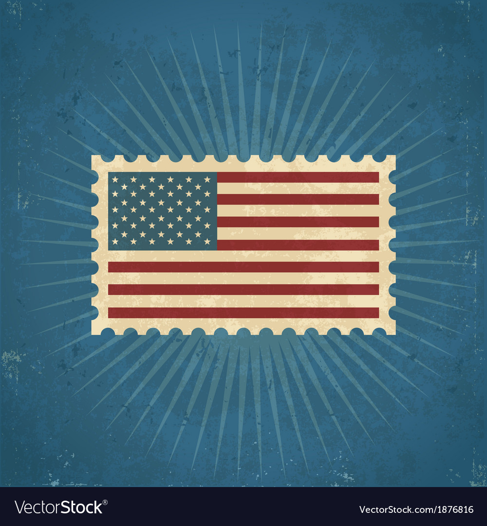 Retro united states postage stamp vector | Price: 1 Credit (USD $1)