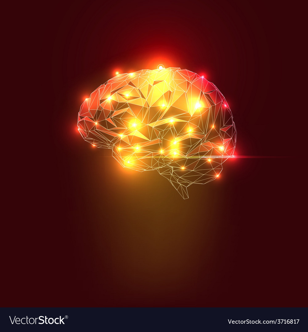 Abstract human brain vector | Price: 1 Credit (USD $1)