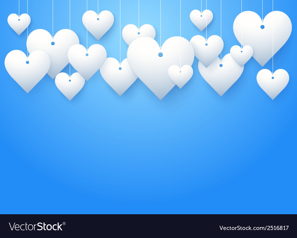 Background beautiful white heart vector | Price: 1 Credit (USD $1)