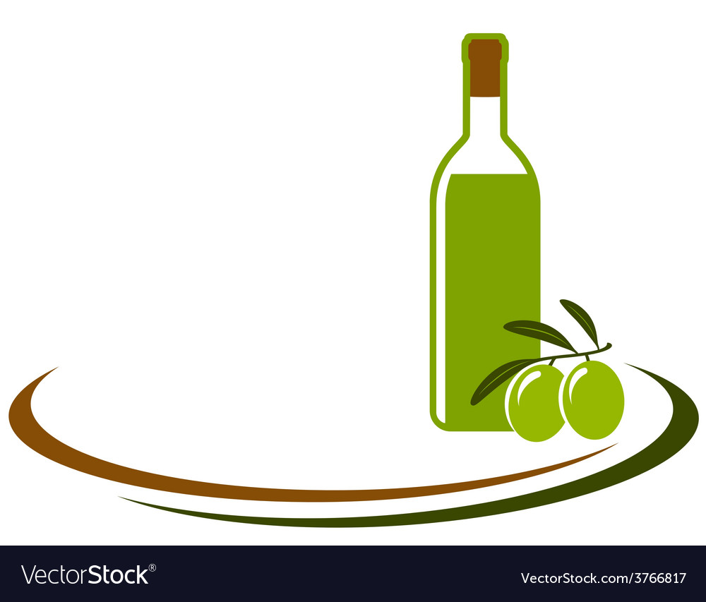 Background with olive oil bottle vector | Price: 1 Credit (USD $1)