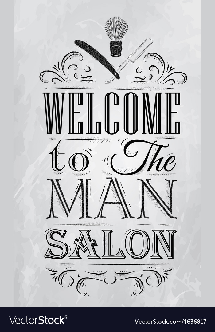 Barbershop poster coal vector | Price: 1 Credit (USD $1)
