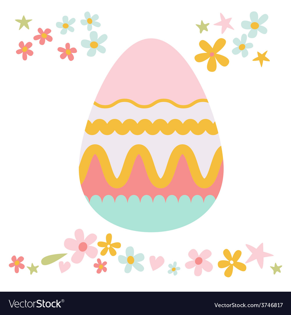 Easter floral design vector | Price: 1 Credit (USD $1)