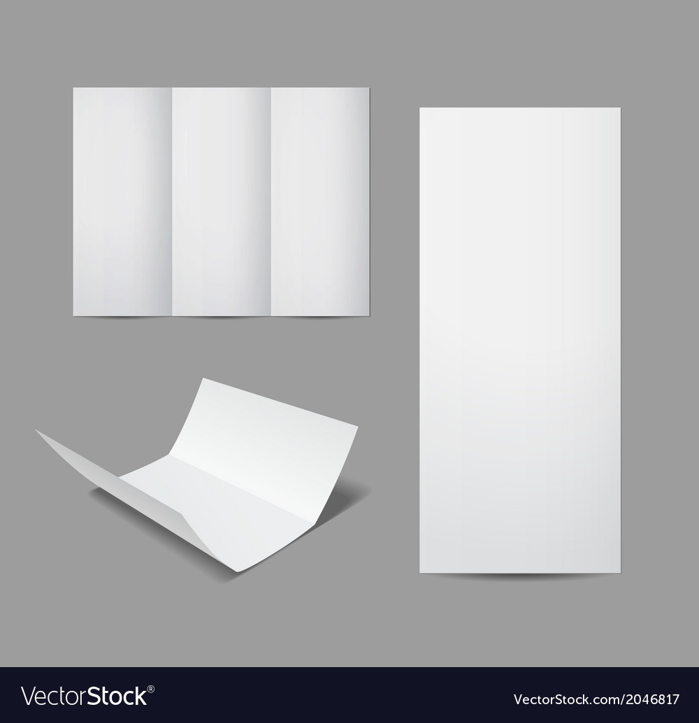 Empty leaflet or brochure design template vector | Price: 1 Credit (USD $1)