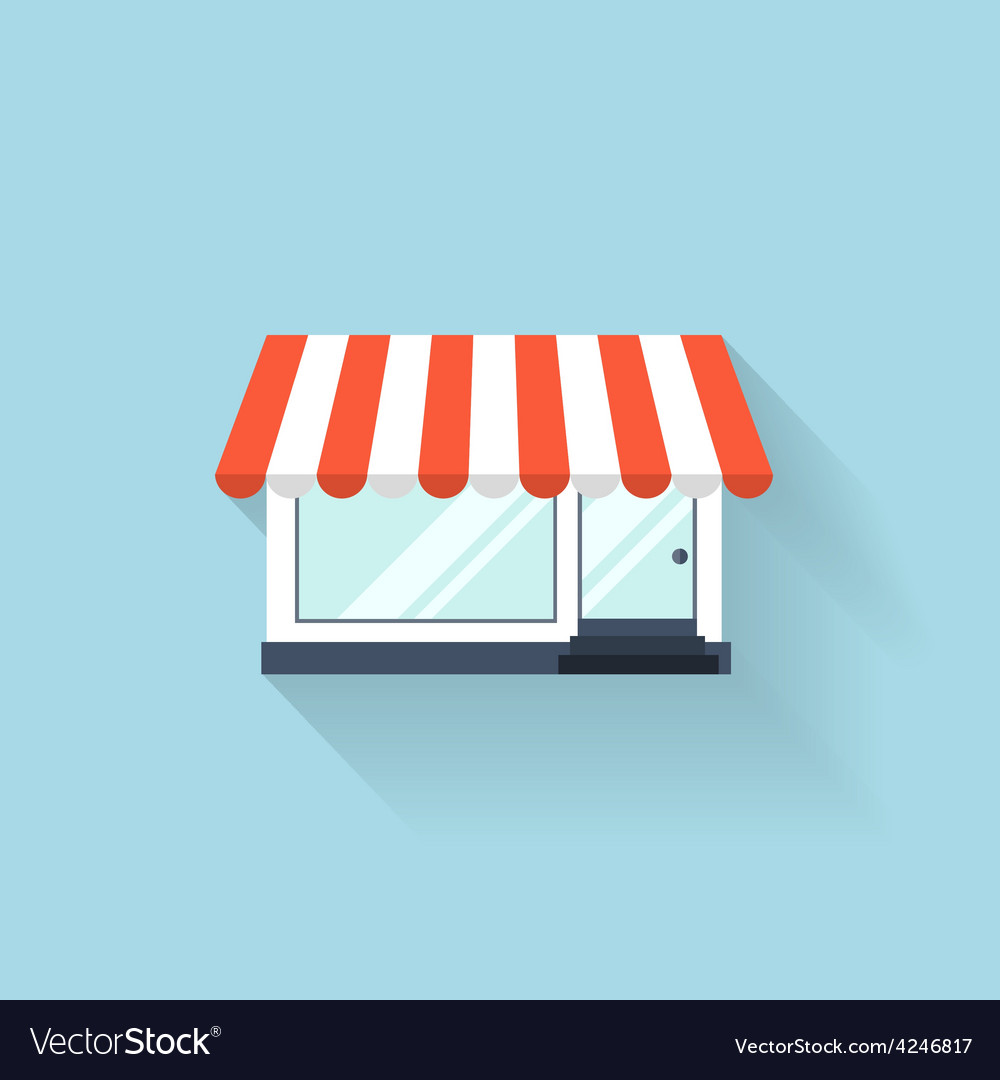 Flat web icon internet shop vector | Price: 1 Credit (USD $1)
