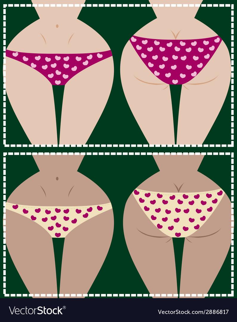 Girl in underwear vector | Price: 1 Credit (USD $1)
