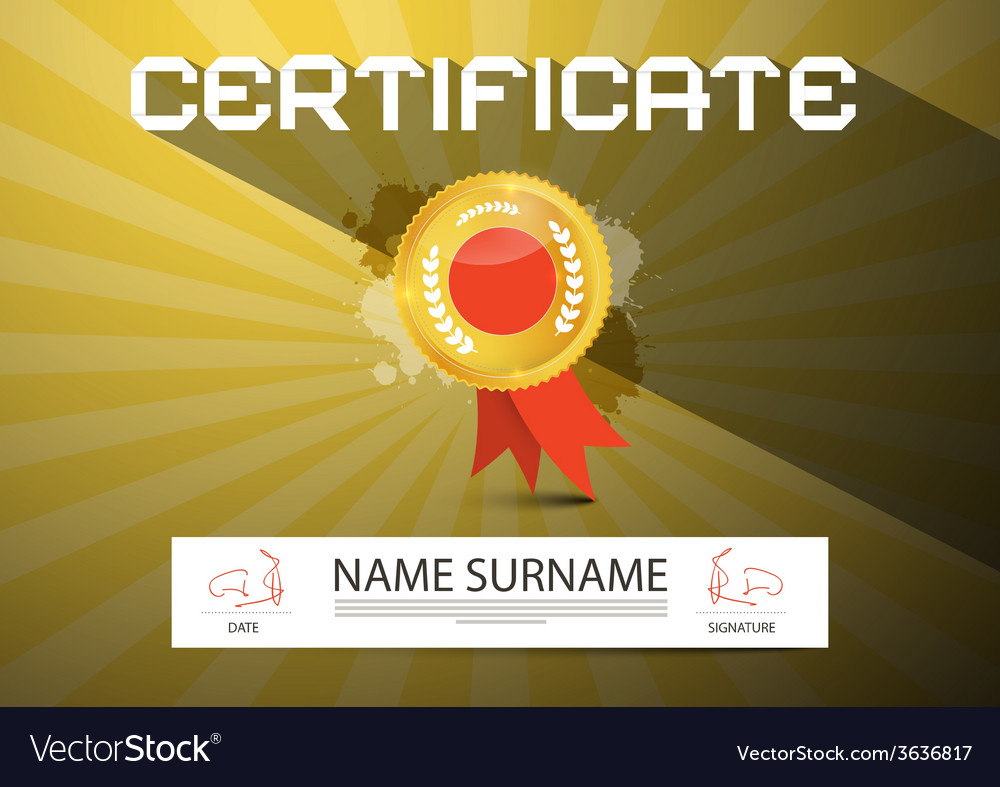 Gold certificate layout vector | Price: 1 Credit (USD $1)