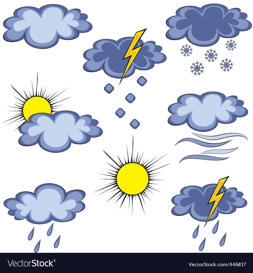 Graffito weather icon vector | Price: 1 Credit (USD $1)