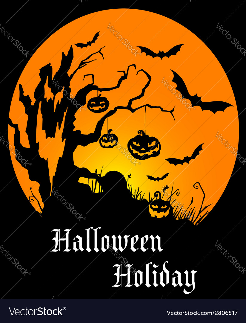 Halloween holiday poster vector | Price: 1 Credit (USD $1)