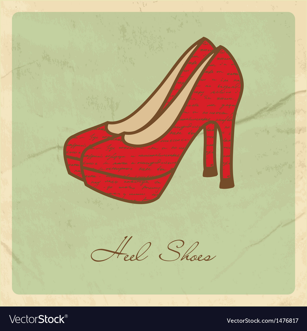 Red shoes on grunge background vector | Price: 1 Credit (USD $1)