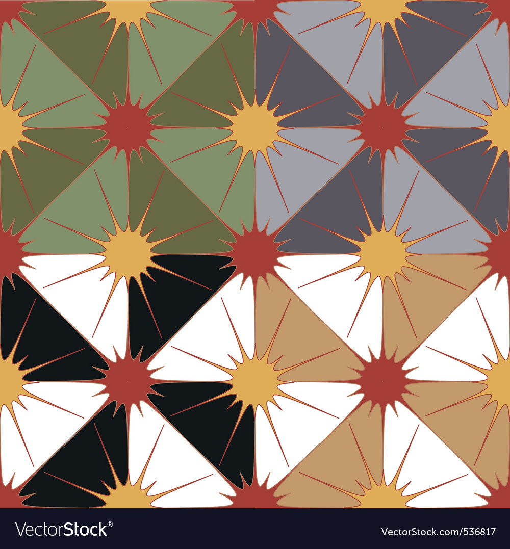 Seamless geometric background in 4 color options vector | Price: 1 Credit (USD $1)