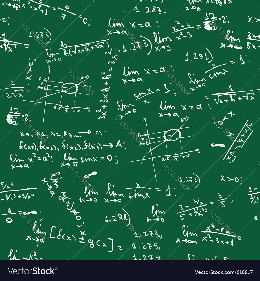 Seamless math formulas background vector | Price: 1 Credit (USD $1)