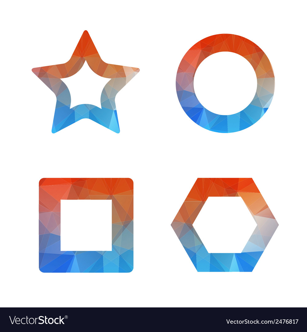 Set of geometric object from triangle vector | Price: 1 Credit (USD $1)