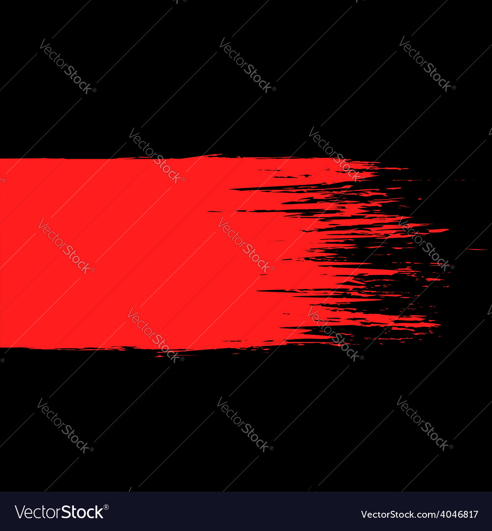 Smear of red paint on a black background vector | Price: 1 Credit (USD $1)