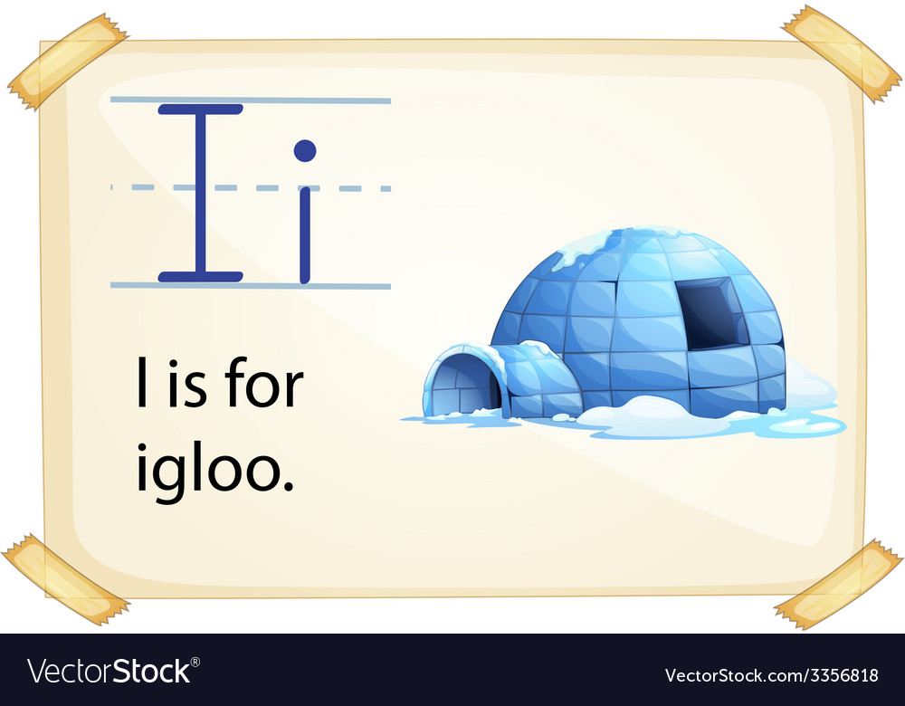 A letter i for igloo vector | Price: 3 Credit (USD $3)