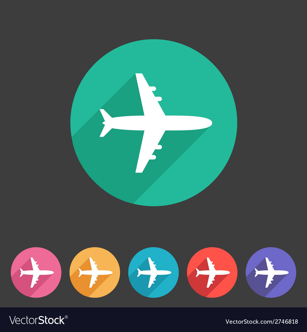 Airplane plane flat icon vector | Price: 1 Credit (USD $1)